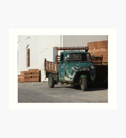 3-wheel truck Art Print