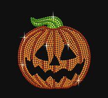 Pumpkin Printed Rhinestone Jackolantern Tshirt Unisex T-Shirt