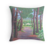 """""""Spring in the pines"""" Throw Pillow"""