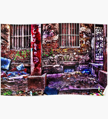 Ruined House Fine Art Print Poster