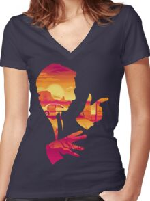 It's Showtime, Folks! Women's Fitted V-Neck T-Shirt