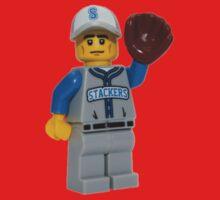 LEGO Baseball Fielder Kids Tee