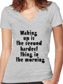 The second hardest Women's Fitted V-Neck T-Shirt