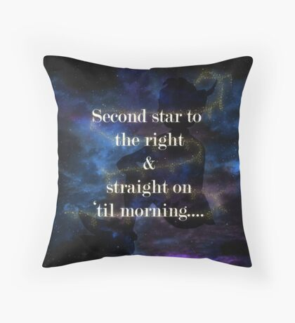 Second star to the right.....3 Throw Pillow