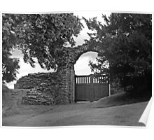 Norham Castle Gates Poster