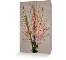 Formal Gladioli Greeting Card