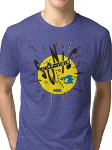 Sonic the Hedgehog - Japanese Box Art Tri-blend T-Shirt
