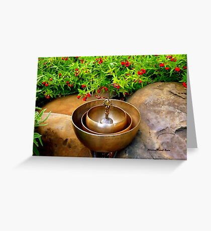 Tibetan Healing Bowls Greeting Card
