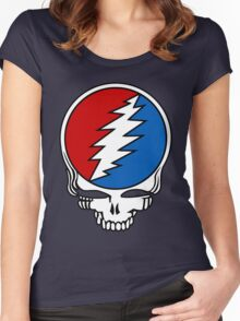 Grateful Dead Logo Women's Fitted Scoop T-Shirt