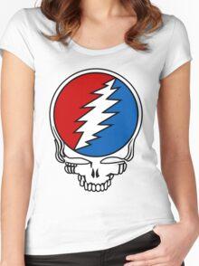 Grateful Dead Logo Women's Fitted Scoop T-Shirt