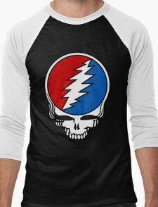 Grateful Dead Logo Men's Baseball ¾ T-Shirt