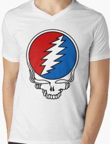 Grateful Dead Logo Mens V-Neck T-Shirt