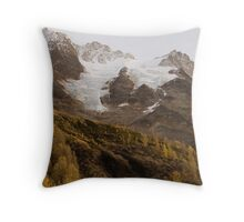 golden peaks Throw Pillow