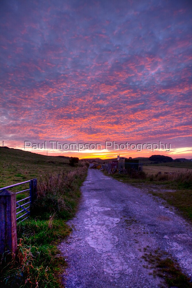 Fire In The sky by Paul Thompson Photography