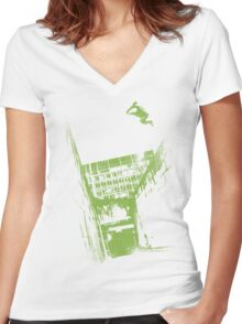 Pure Parkour Women's Fitted V-Neck T-Shirt