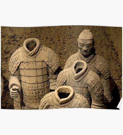 Chine 中国 - Xian 西安 - Terracota Warriors Poster