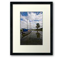 Upton Fen broad. Framed Print