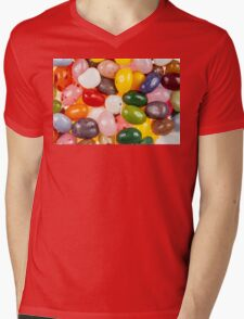 Cool colorful sweet Jelly Beans Mens V-Neck T-Shirt