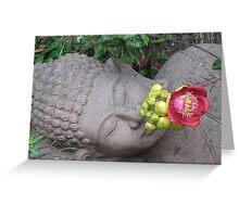 reclining buddha with flower Greeting Card
