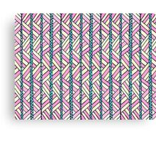 basket case summer folk pattern Canvas Print