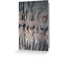 apsara dancers Greeting Card
