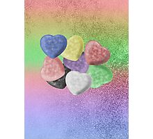 Candy Hearts Photographic Print