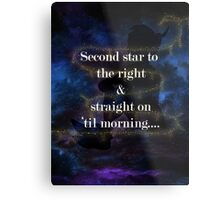 Second star to the right.....2 Metal Print
