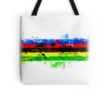 Rainbow Jersey Abstract Tote Bag