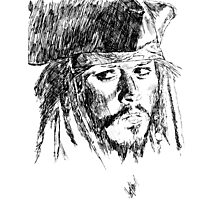 Jack Sparrow art Photographic Print
