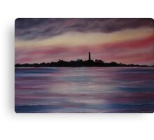 """Scattery Island - October Sunset"" - Oil Painting Canvas Print"
