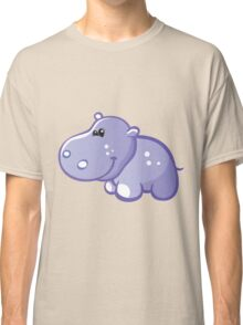 Funny blue hippo Classic T-Shirt