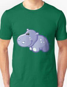 Funny blue hippo Unisex T-Shirt