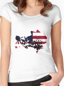 Patriotic Peony Women's Fitted Scoop T-Shirt
