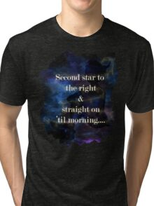 Second star to the right..... Tri-blend T-Shirt