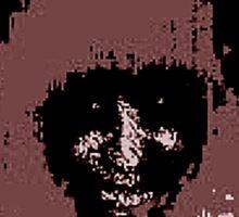 Splattered Fuzz: Morbid Beauty Sticker