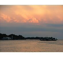 Clouds and Ferry Photographic Print