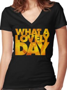 What a lovely day v.2 Women's Fitted V-Neck T-Shirt