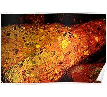 Rust Ocean Boulders Poster