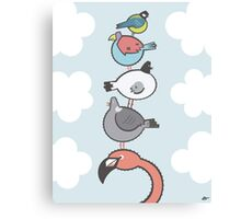 Toppling Birds Canvas Print