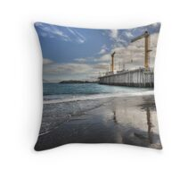 Dry Dock Reflections Throw Pillow