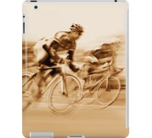 Two Cyclists Battling for the Lead - Sepia Tones iPad Case/Skin