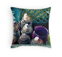 Spray Paint and Saturday Afternoons Throw Pillow