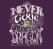 Never Tickle a Sleeping Dragon (Color, Light) Unisex T-Shirt
