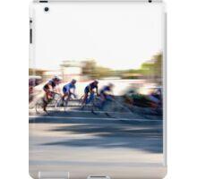 Women cyclists Racing into the Turn iPad Case/Skin