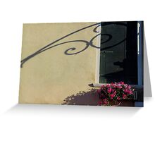 flowers and the shadows Greeting Card