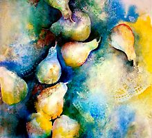 Abstract...Pears and Lace... by ©Janis Zroback