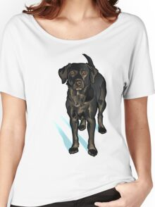 Black Lab in the Snow Women's Relaxed Fit T-Shirt