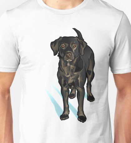 Black Lab in the Snow Unisex T-Shirt