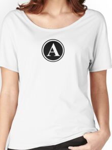 Circle Monogram A Women's Relaxed Fit T-Shirt