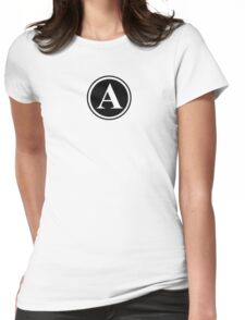 Circle Monogram A Womens Fitted T-Shirt